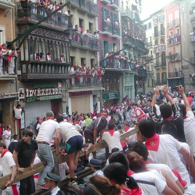 Pamplona Running of the Bulls St. Fermin