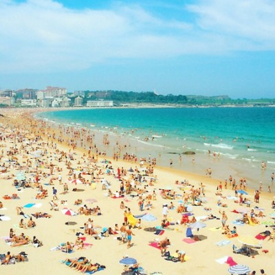 Santander Spain Beautiful Cities El Sardinero Beach