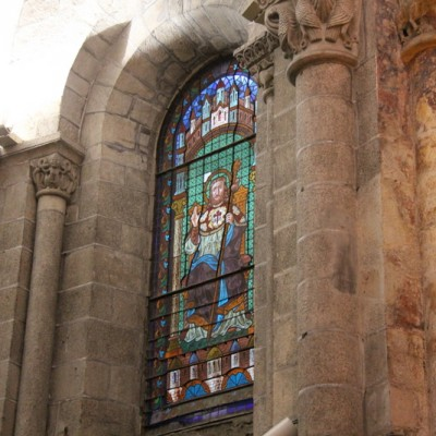 Santiago de Compostela Spain beautiful cities stained glass window of cathedral