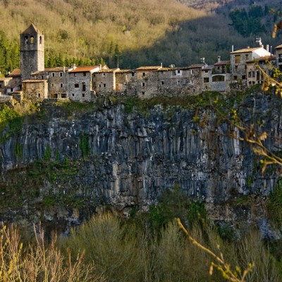 Castellfollit de la Roca views Spain