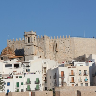 Peniscola Castle and Whitewashed Buildings