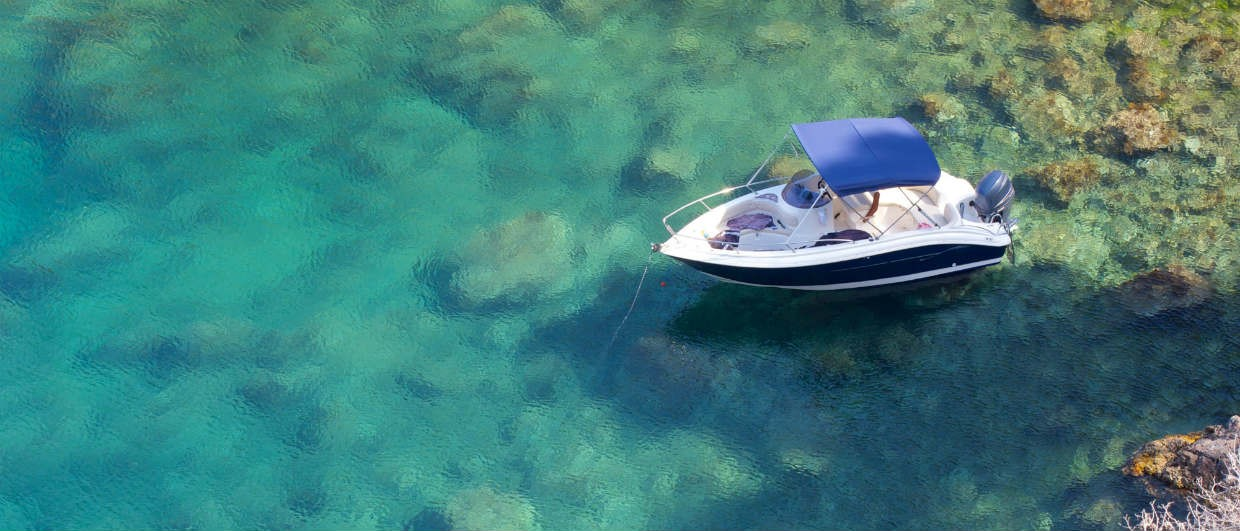 Catalonia best beaches-View from Cap Roig Gardens Of Boat In Water
