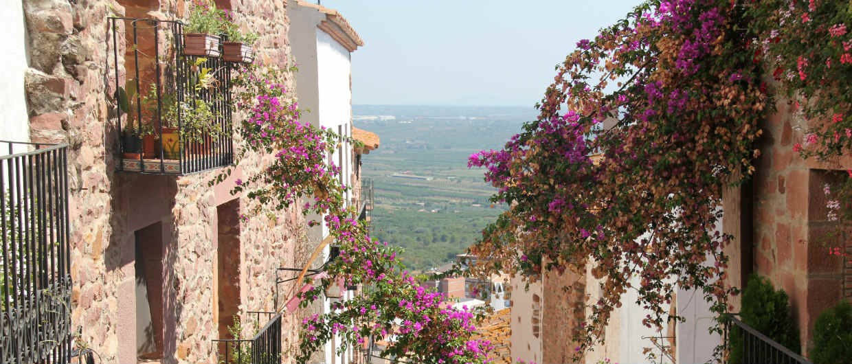 Vilafames streets flowers and views over the countryside-1