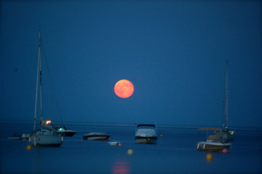 L'Escala Spain Full Moon over sea-1