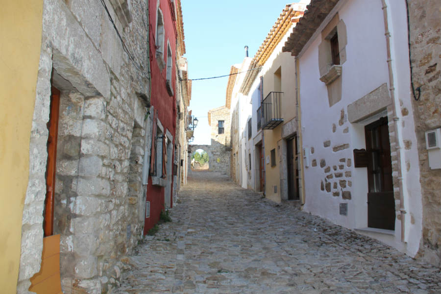 Xert Spain typical stone and colourful streets-900