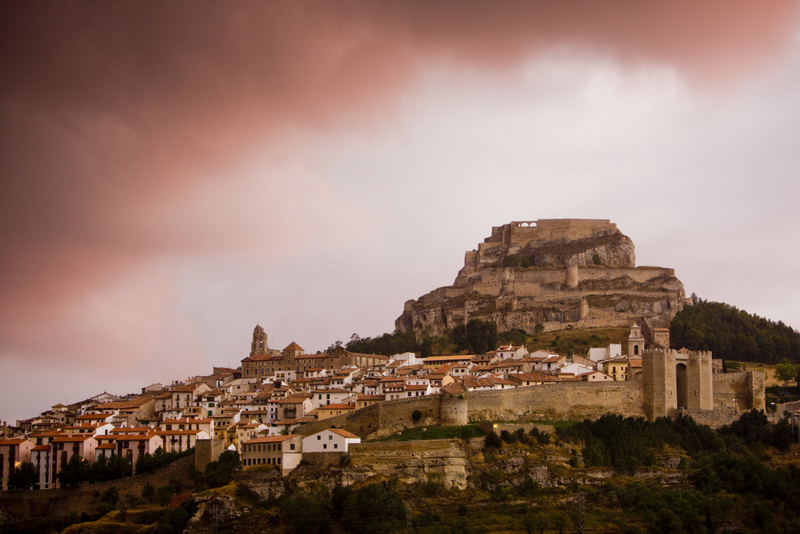Morella Spain Pink Sky Over Town