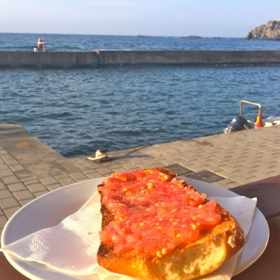Murcia pan con tomate with views