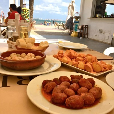 Murcia tapas by the beach