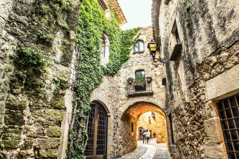 Pals Girona Catalonia Picturesque medieval village