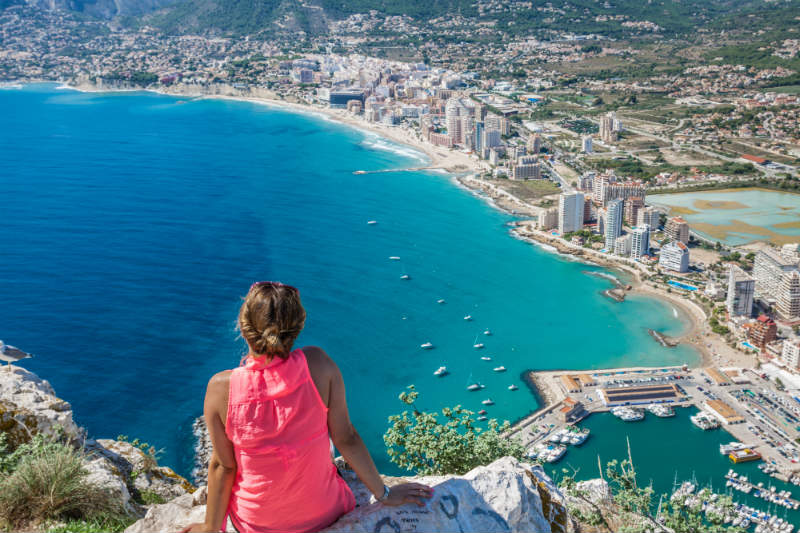 Calpe Coastline Costa Blanca Spain
