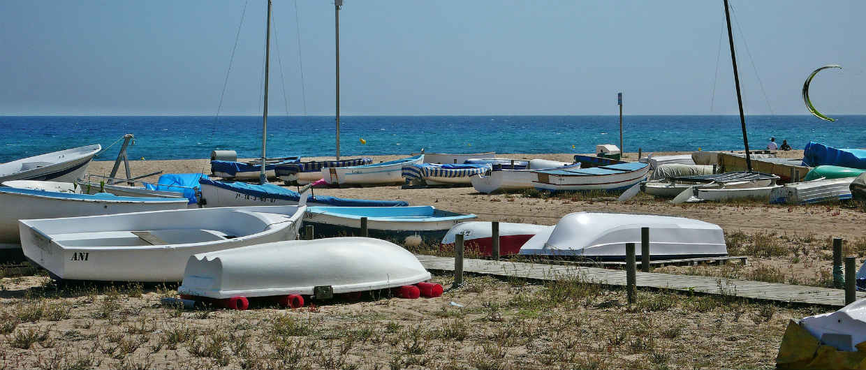 Malgrat de Mar beach and boats-1