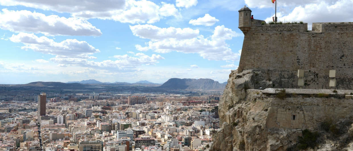 Alicante Spain Santa Barbara Castle