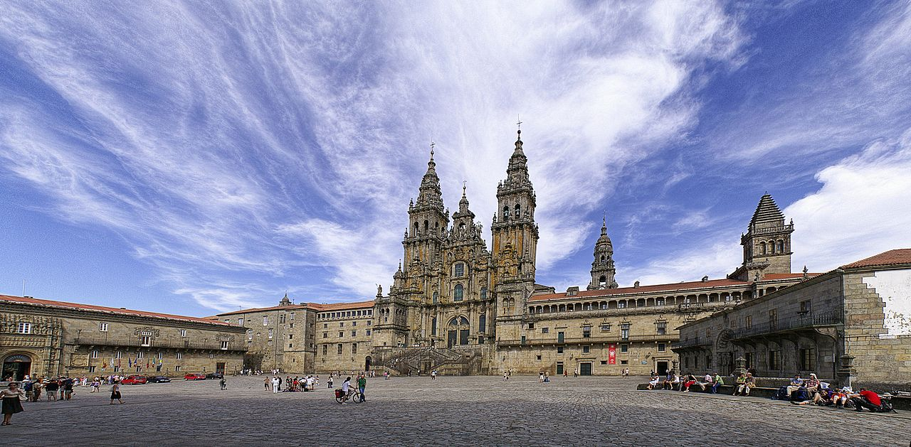Santiago de Compostela Spain cathedral panoramic