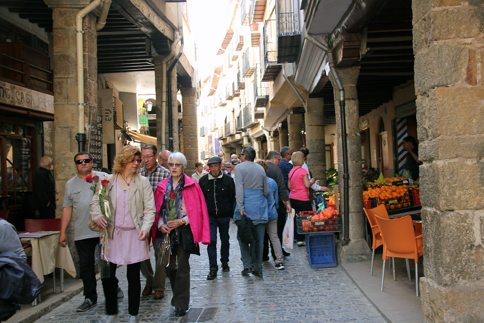 Morella Spain market day Sunday