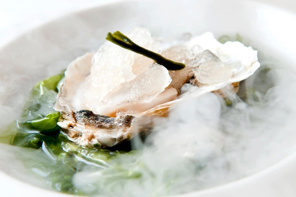 Raul Resino Oyster from the Delta crionised in lime and Cava
