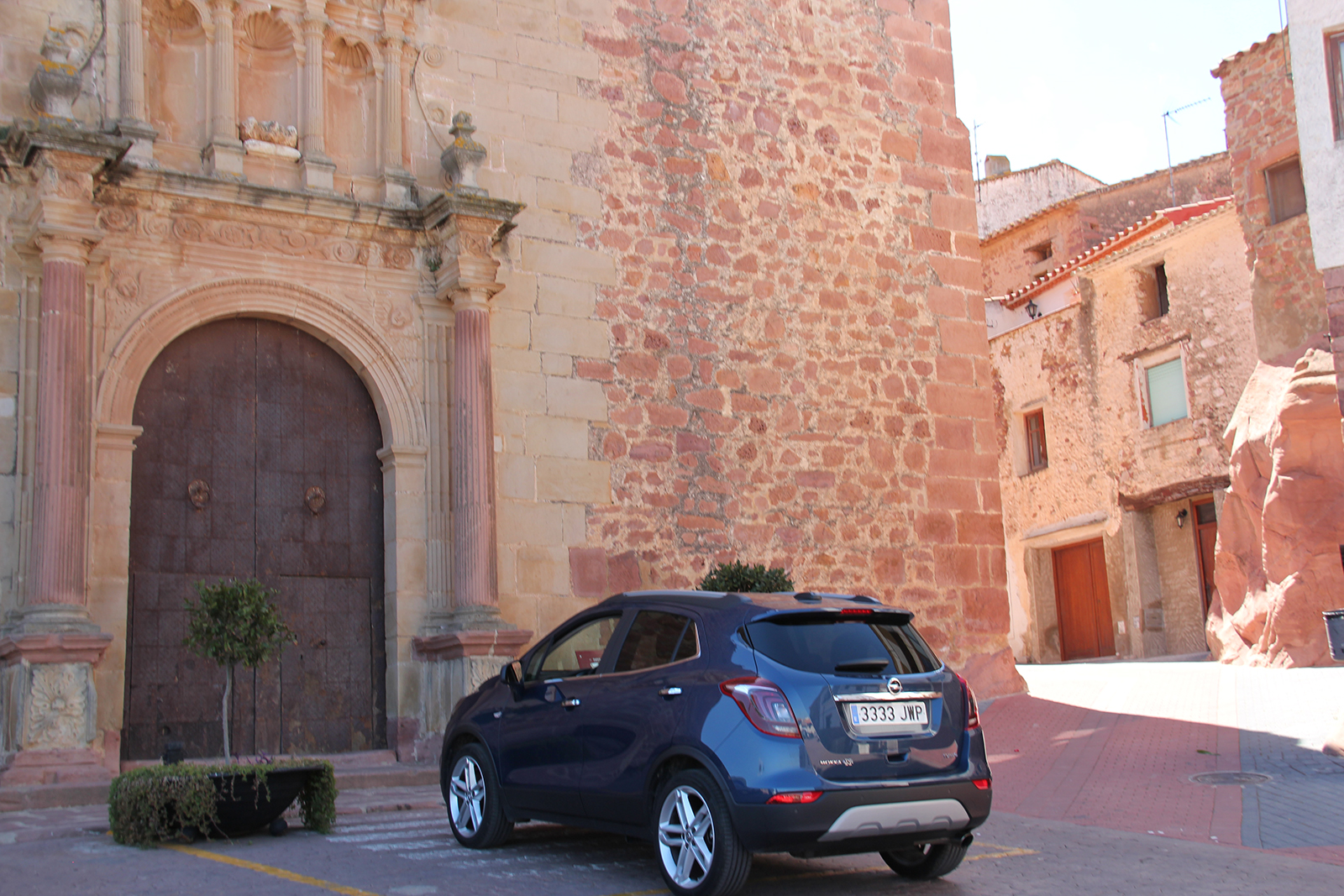 Vilafames Spain car outside church