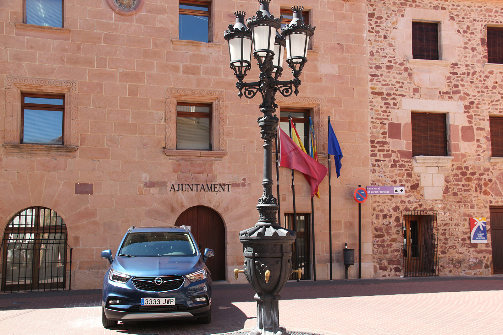 Vilafames Spain car outside town hall